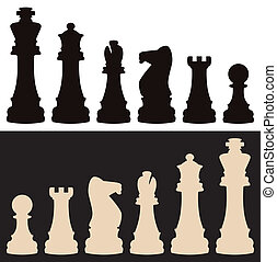 vector chess pieces - vector set of chess pieces