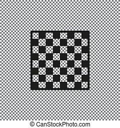 Vector chessboard icon on a transparent background