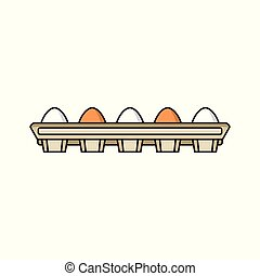 vector chicken brown eggs in hay nest isolated