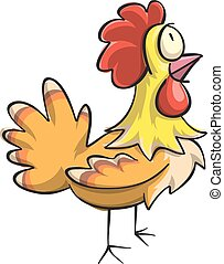 vector chicken cartoons