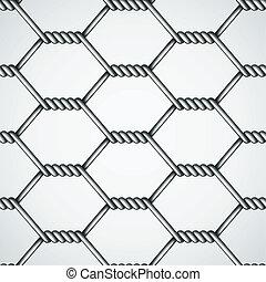 vector chicken wire seamless background