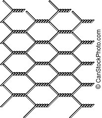 vector chicken wire seamless black silhouette