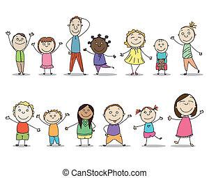 Vector Children - Vector Illustration of Children