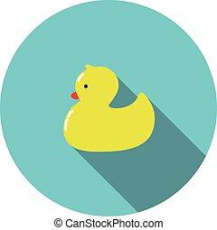 vector children icon rubber Yellow Duck