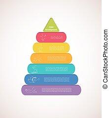 Vector children pyramid for infographic. child development.