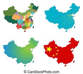 Vector China map set