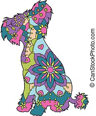 Chinese crested dog colroful - Vector Chinese crested dog...