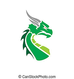 Vector Chinese Dragon for the tattoo. Chinese dragon Tattoo. China Tattoo Dragon silhouette. China symbol dragon silhouette animal tattoo.