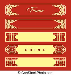 Vector Chinese frame style new design collections