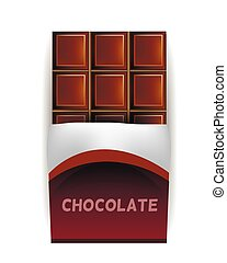 Vector Chocolate Bar in Wrapper