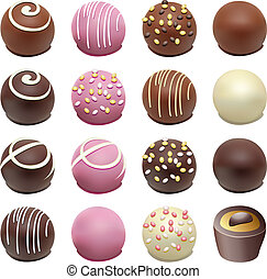 vector chocolate candies