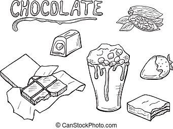 vector chocolate set