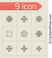 Vector choppers crosses icon set