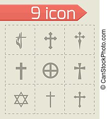 Vector choppers crosses icons set