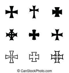 Vector choppers crosses - Vector black choppers crosses...