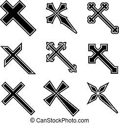 vector, christen, kruisen