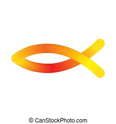Vector Christian fish icon
