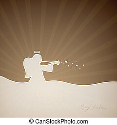 Vector Christmas Angel - Vector Illustration of a Christmas...