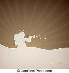 Vector Christmas Angel - Vector Illustration of a Christmas...