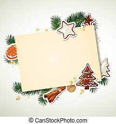 Vector Christmas Background - Vector Illustration of a ...