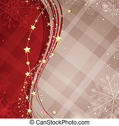 Vector Christmas Background - Vector Illustration of an...