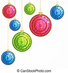 Vector Christmas Background with balls.