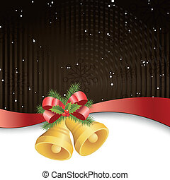 Vector Christmas Background with Bells