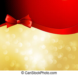 Vector christmas background with  bow