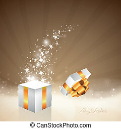 Vector Christmas Background with Gift