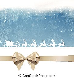 Vector Christmas Background with Santa Claus
