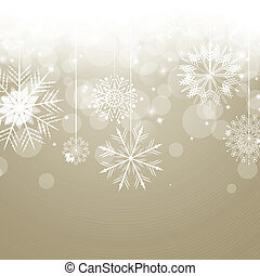 Vector Christmas Background with Snowflakes