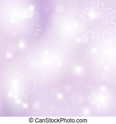 Vector Christmas background with white snowflakes