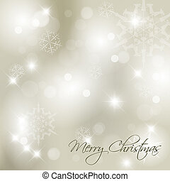 Vector Christmas background with white snowflakes and place...
