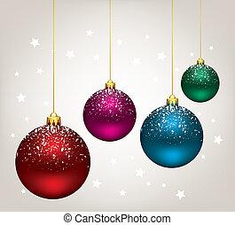 vector christmas balls - vector winter holiday illustration...
