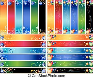 Vector Christmas Banner Set