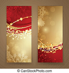 Vector Christmas Banners - Vector Illustration of Abstract...