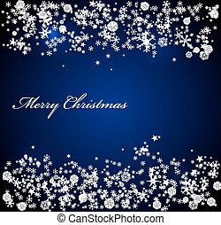 Vector Christmas blue background