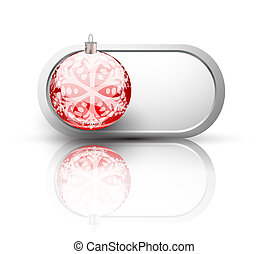 Vector christmas button design