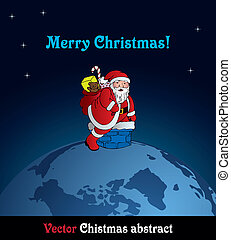 Santa on the globe