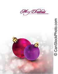 Vector Christmas Card | Shiny Golden Decoration