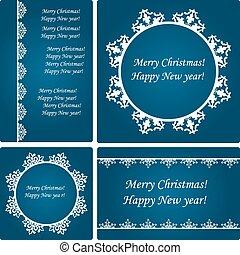 Vector  Christmas Card Templates