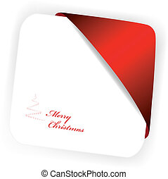 Vector Christmas card with ribbon