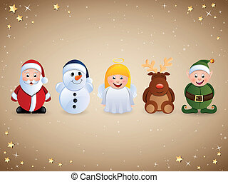 Vector Christmas Character Icons