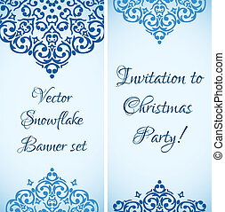 Vector Christmas cute snowflake banner design with a place for your text