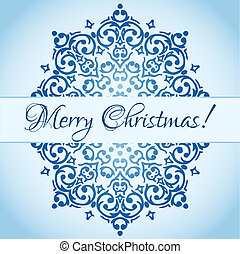 Vector Christmas cute snowflake design with a place for your text