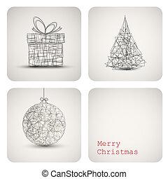 Vector christmas decoration card - Simple vector christmas...
