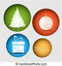 Vector christmas decoration card
