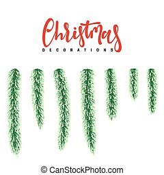 Vector Christmas Decorations.