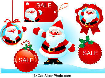 Vector Christmas design elements for advertising.
