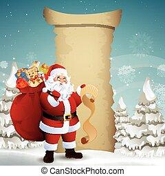 Vector Christmas Design with Santa Claus